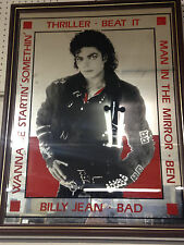 Michael Jackson / Limited Edition / Framed / Mirrerd Photo  Presentation / Bad
