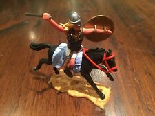 "Timpo Viking/ Norseman Mounted - ""Sutton Hoo"" - Rare Woolly Light Blue Saddle"