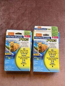 2 Boxes FLEA & TICK DROPS Hartz UltraGuard Plus x3 Monthly Treatments Cat/Kitten