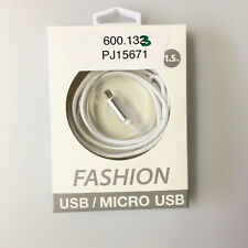 Fashion USB Data Cable für iPhone 5 5S 5SE 6 6Plus iPad Air 2 1.5 m weiss Peter