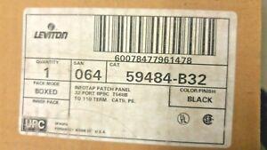 Leviton 32-Port Cat 5 Patch Panel T568B 59484-B32