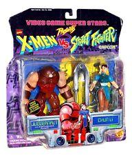 X-Men vs Street Fighter Juggernaut vs. Chun Li 2 Pack Toy Biz 1998 MOC Capcom