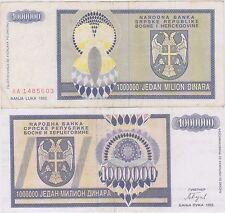 Bosnia Erzegovina / Bosnie Herzégovine 1.000.000 DINARA 1993