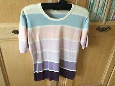 Lyle & Scott Ladies Vintage Jumper Size M/L In Silk (70% ) & Cotton(30%).