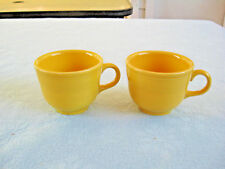 """Set Of 2 Fiesta HLC Banded 2 3/4"""" Yellow Cups USA"""