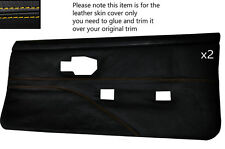Jaune stitch 2 cartes de porte avant pleine peau couvre fits PONTIAC FIREBIRD 90-92