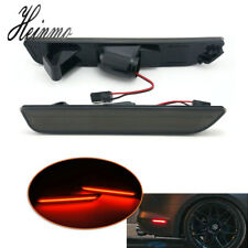 Smoked LED Rear Side Marker Lamps w/ Red LED Lights For 2010-2014 Ford Mustang
