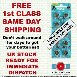 10X AG13, LR44, 1128MP, 1166A, D76A, G13A 1.5v Battery FREE 1st class post