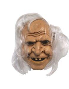 Halloween Vieux Effrayant Femme Sorcière Avec Manquant Dents Stretch Corde Latex