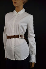 Ralph Lauren White Blouse /Ruffled Sleeves Size Large NWT