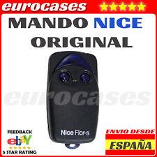 MANDO EMISOR NICE FLOR FLOR-S FLORS AZUL NEGRO 433 rolling GARAJE PORTON