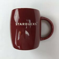 Starbucks Coffee Mug Cup 2011 Red Barrel White Etched