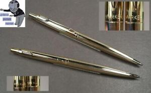 Parker Classic Pencil And Ballpoint Pen IN Gold Plated #