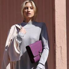 SALE was $229 Clarence Frank -Jayne Cross Body Purple Womans Bag Genuine Leather