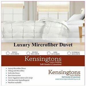 Kensingtons®100% Microfibre Duvet Egyptian Cotton Cover All Sizes Togs Comforter