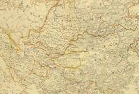 1873 HAND COLOURED MAP ASIA ARABIA INDIA RUSSIAN EMPIRE CHINA JAPAN BURMA SIAM