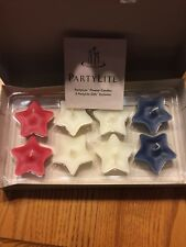 Partylite American Heritage Floater Candles Red -White-Blue. Box of 8. New!