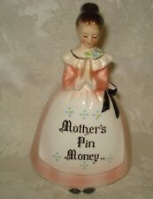 "Enesco Pink Prayer Lady ""Mother's Pin Money"" Bank"
