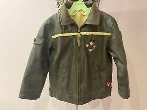Wintage Disney Mickey Mouse Kids Jacket Imitation leather Size 110