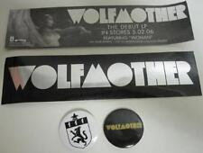 WOLFMOTHER 2006 promotional 2 pinback set & sticker Flawless NEW old stock