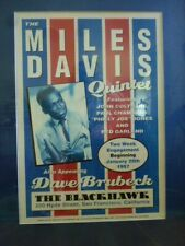 More details for  mlies davis jazz poster in frame 86 x 65cm