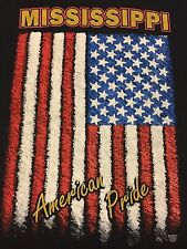Vintage Mississippi American Pride T Shirt Motorcycle Bar Chopper Soft Thin Flag