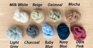 Knitted Newborn Wraps - Photography Photo Shoot Prop - Multiple Colors - Baby