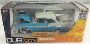 Dub City Old Skool 1956 Chevy Bel Air 1:24 Die Cast Metal by Jada Toys NIB