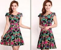 2015 Summer  women's dress Slim Floral Dress milk silk dress Plus Size Sundress