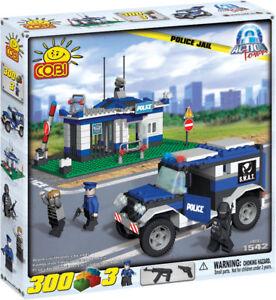 Cobi Action Town Jail Police Chase Crane Forklift 300 Construction Brick Set New