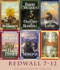 Brian Jacques REDWALL Series MASS MARKET PAPERBACK COLLECTION Books 7-12