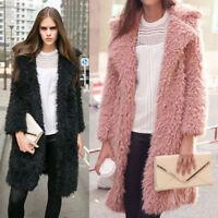 Women Loose Knitted Wool Sweater Cardigan Long Sleeve Warm Outwear Overcoat Tops