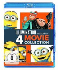 4 Blu-rays * ICH - EINFACH UNVERBESSERLICH 1-3 & MINIONS IN EINER BOX# NEU OVP +