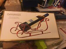 Godinger Gatherings  Wine Bottle Holder, Santa's Sleigh  NEW IN BOX