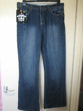 C30) para hombre de diseñador de lujo (D) Azul Bootcut Jeans Fit volar Cremallera W 32 pierna 32