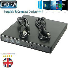 External USB 2.0 Slim Drive DVD RW CD RW Burner Copier Writer Reader Rewriter UK