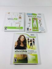 Wii Fit, Wii Fit Plus, & Jillian Michaels Fitness Ultimatum Bundle Wii CIB ML88