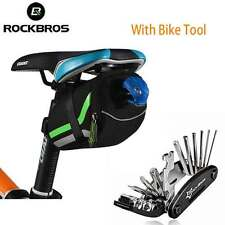 RockBros Bicycle Rear Seat Bag Saddle Tail Storage Bag & Bike Multi Repair Tool