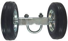 """6"""" ROLLING / SLIDING CHAIN LINK GATE WHEEL CARRIER: Rut Runner, rubber wheels"""