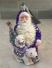Patricia Breen Ornament Nwt 2018 Santa and Friend-Violet Exclusive Catz #3877