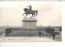 Statue of Napoleon  Cherbourg  France   early 1900's  Unused  11818