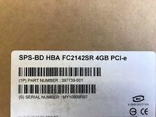 397739-001 HP FC2142SR 4GB PCI-E 1-PORT FIBRE CHANNEL HOST BUS ADAPTER NEW