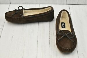 Clarks Classic JMH1908 Slippers - Women's Size 8M, Brown NEW