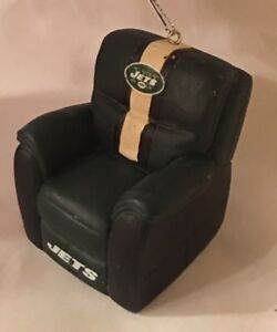New York Jets Reclining Chair Christmas Tree Holiday Ornament FREE USA SHIPPING