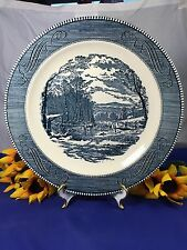Royal China CURRIER and IVES WOOD CUTTING Round Serving Plate 11 3/8""
