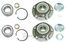 PEUGEOT 407 2004-2011 FRONT 2 & REAR 2 WHEEL BEARING HUB KIT + ASB ABS NEW