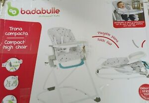 Badabulle B010700 Kompakter Hochstuhl, mitwachsender Kinderhochstuhl
