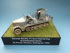 DRAGON 1/35 GERMAN Sd-Kfz7/1 2CM FLAKVIERLING HALF-TRACK BUILT MODEL