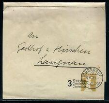 Suisse - Entier postal ( bande journal ) surchargé de Burgdorf en 1916 - D214