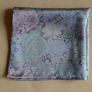 Silk pocket square Dulwich park Liberty satin  fabric